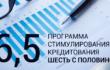 Лимиты по «Программе 6,5» для поддержки кредитования малого и среднего бизнеса увеличены на 50 млрд. рублей